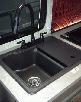 1925 Rv Black Granite Kitchen Sink