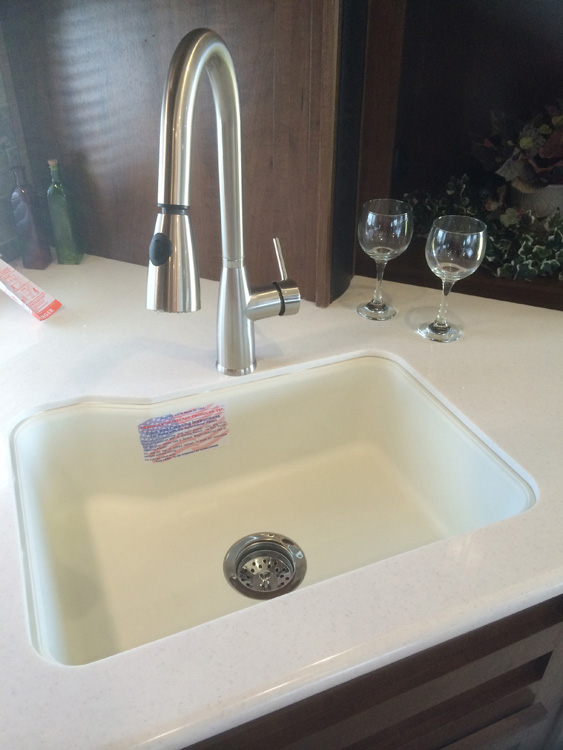 18 x 24″ Single Bowl Under Mount Kitchen Sink – Bone – American ...