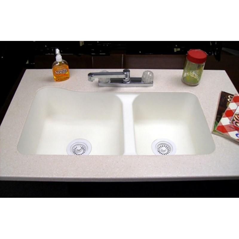 19 x 33″ 60/40 Undermount Kitchen Sink – Bone – American Stonecast ...