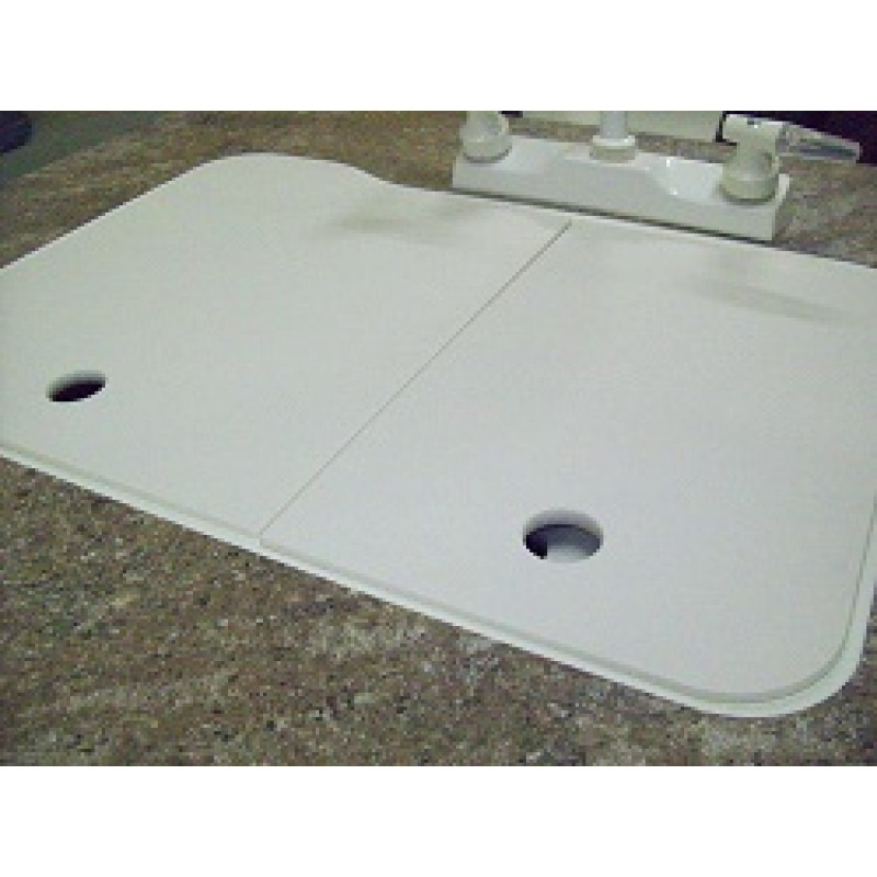 19″ x 25″ 60/40 Kitchen Sink Covers – White – American Stonecast ...