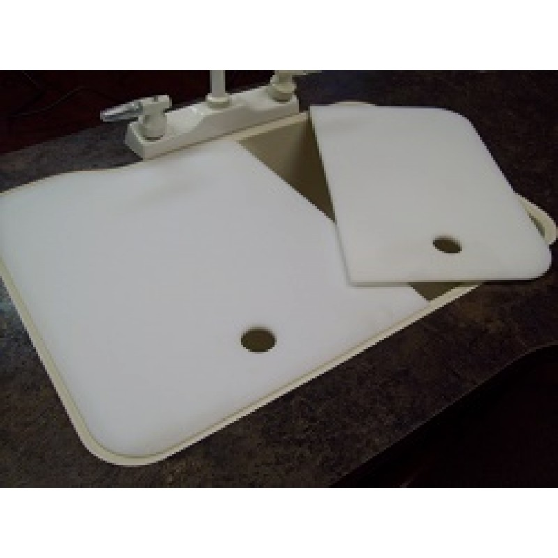 19″ x 25″ 60/40 Kitchen Sink Covers – Creme – American Stonecast