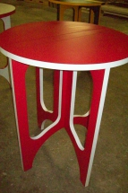 Lightweight Drop Leaf table, Red & White