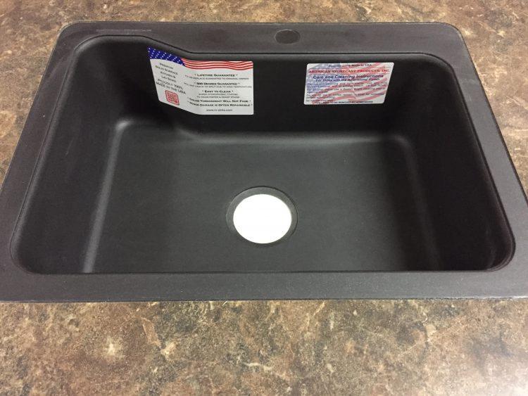 18 x 24 single bowl kitchen sink black granite american 18 x 24 black granite single bowl workwithnaturefo